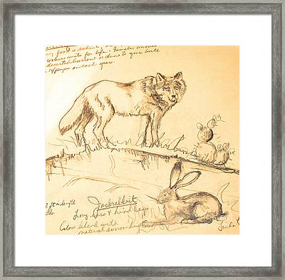 Framed Print featuring the drawing Sketches For Sale by Linda Shackelford