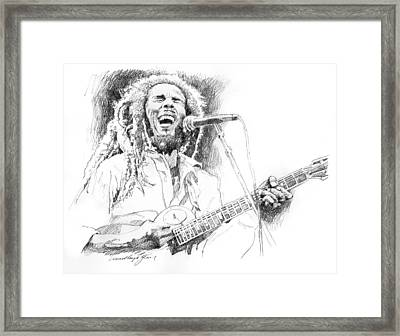 Sketches Of Bob Marley Framed Print by David Lloyd Glover