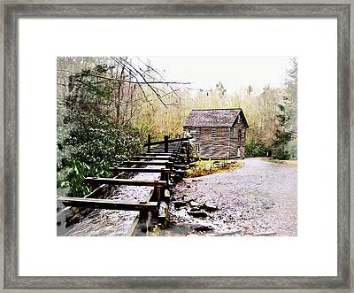 Sketchy Mingus Mill  Framed Print by Marty Koch