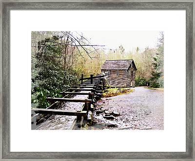 Sketchy Mingus Mill  Framed Print