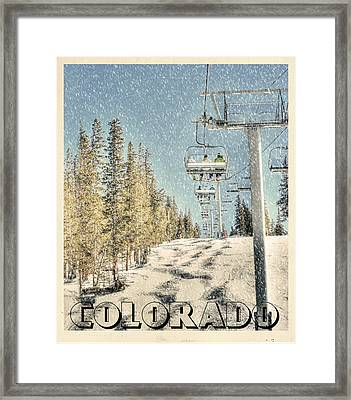 Ski Colorado Framed Print by Juli Scalzi
