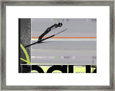 Ski Jumper Framed Print by Naxart Studio