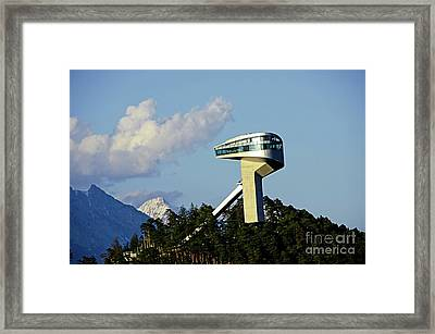 Ski Jumping Tower At Bergisel Innsbruck Austria Framed Print