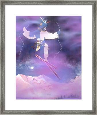 Ski Kachina Bowl Taos New Mexico Framed Print