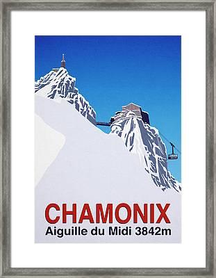 Ski Posters Framed Print by Steve Ash