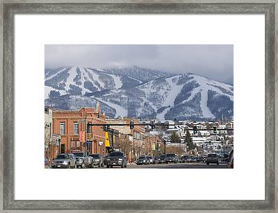 Ski Resort And Downtown Steamboat Framed Print by Rich Reid