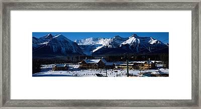 Ski Resort Banff National Park Alberta Framed Print by Panoramic Images