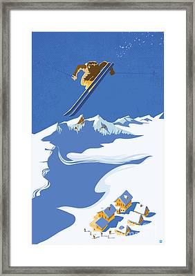 Sky Skier Framed Print