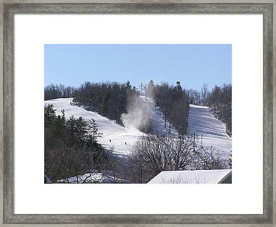 Ski Slope Framed Print by Richard Mitchell