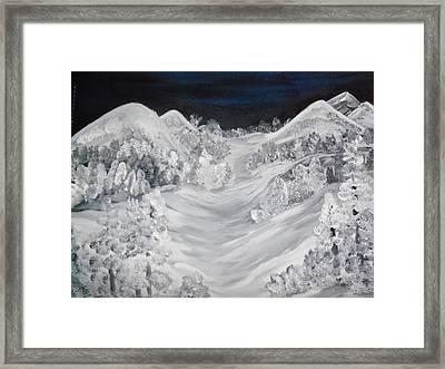Ski Slope Framed Print by Teresa Nash