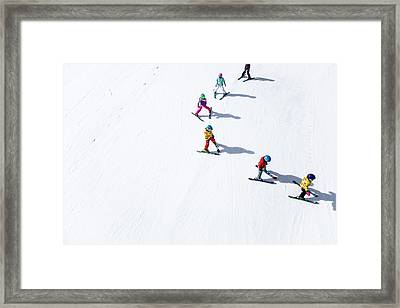 Ski  Framed Print by Tom Cuccio