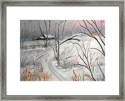 Ski Trail Framed Print