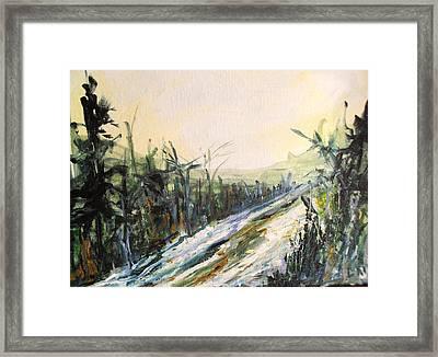 Ski Trail Framed Print by Linda King