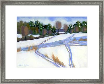 Ski Trails Framed Print