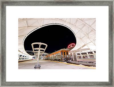 Ski Train Framed Print
