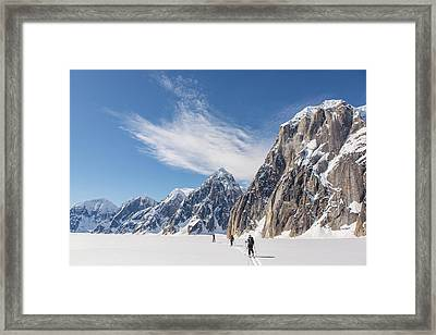 Skiers In The Great Gorge Framed Print by Tim Grams
