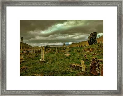 Skies And Headstones #g9 Framed Print