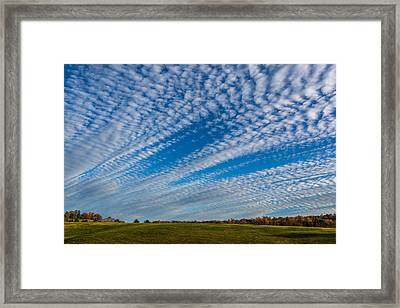 Skies And Stripes Framed Print