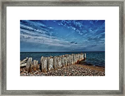 Framed Print featuring the photograph Skies Of Superior by Rachel Cohen