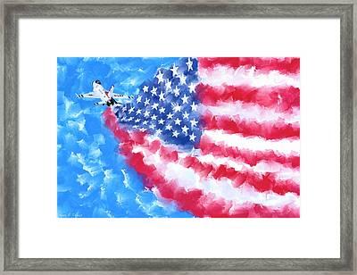 Skies Over America Framed Print by Mark Tisdale