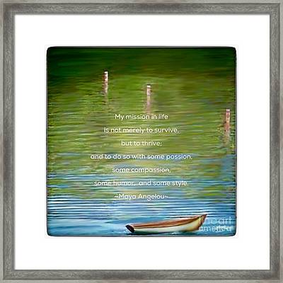 Skiff Boat Quote Framed Print by Susan Garren