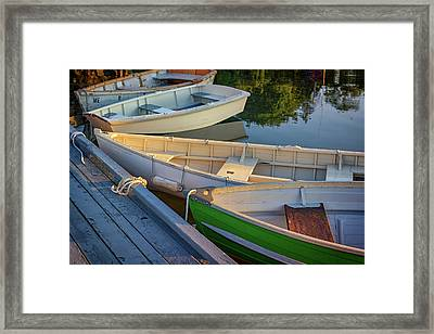Framed Print featuring the photograph Skiffs In Tenants Harbor by Rick Berk