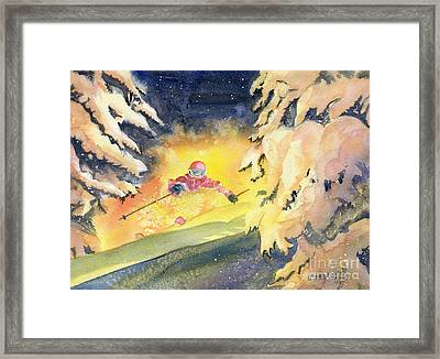 Skiing Art Framed Print by Melly Terpening
