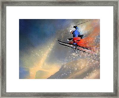 Skijumping 03 Framed Print