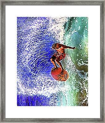 Skim Boarder Framed Print by Don Schimmel