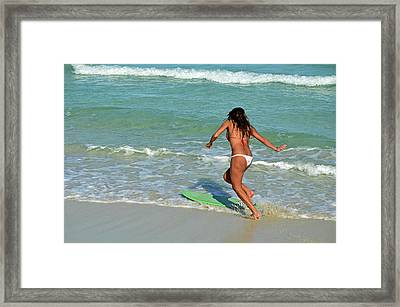 Skim Boarding At Southpointe Park Framed Print by Richard Pross
