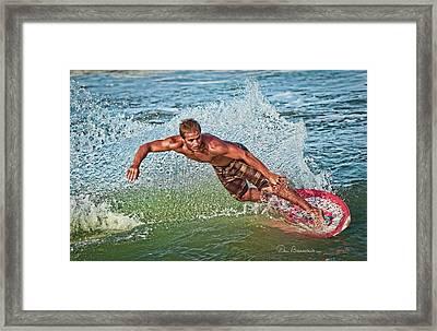 Skimboarder 7292 Framed Print by Dan Beauvais