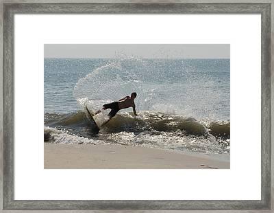 Skimboarding 35 Framed Print by Joyce StJames