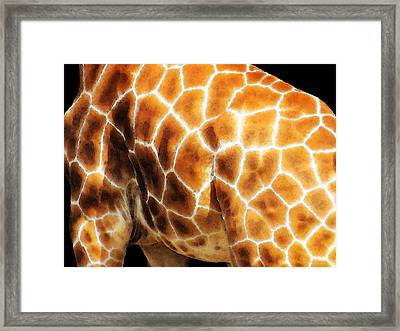 Skin Deep - Buy Giraffe Art Prints Framed Print by Sharon Cummings