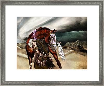 Skin Horse Framed Print by Mandem