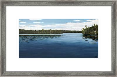 Skinners Bay Muskoka Framed Print by Kenneth M  Kirsch