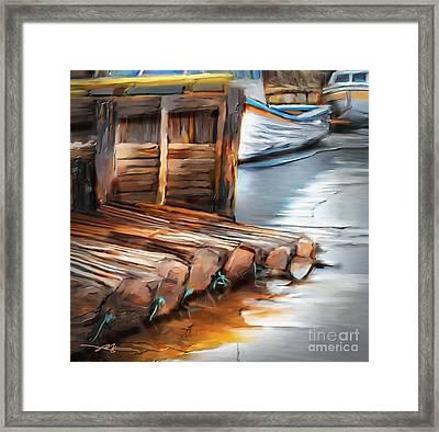 Skinner's Pond Framed Print by Bob Salo