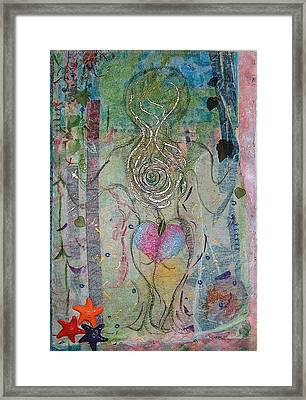 Skinny Dipping Framed Print by A Carole Atterbury