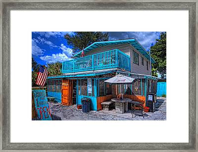 Skinny's Place Anna Maria Island Framed Print