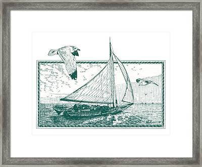 Skipjack Framed Print by John D Benson