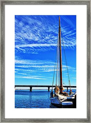 Skipjack Framed Print by Kelly Reber