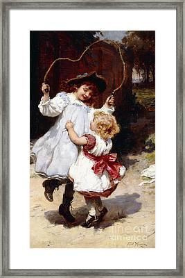 Skipping Framed Print by Frederick Morgan