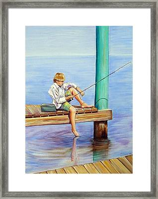 Skipping School Framed Print