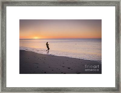 Skipping Stones Framed Print by Ray Warren