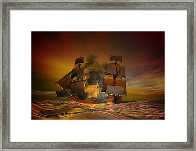 Skirmish Framed Print