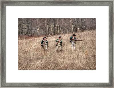 Skirmish Line Framed Print by Randy Steele