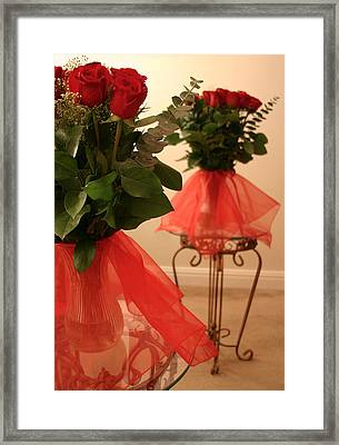 Skirted Roses In Mirror Framed Print by Kristin Elmquist