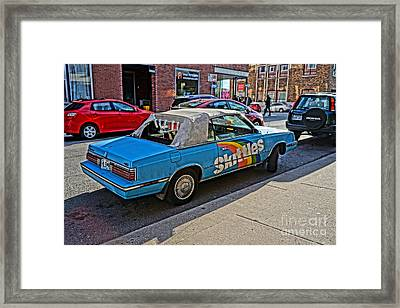 Skittles Car Framed Print