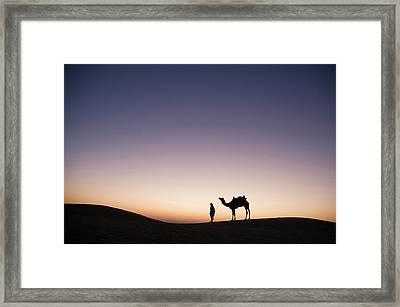 Skn 0860 Dawn At The Dunes Framed Print by Sunil Kapadia