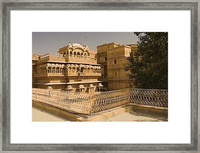 Skn 1231 Kingly Jharokhas Framed Print