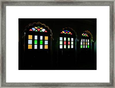 Skn 1251 Glass Hues Framed Print